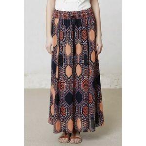 Anthropologie Maeve Hexprint Maxi Skirt size large
